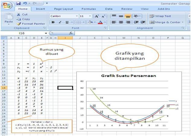 Membuat Grafik Garis Lurus Berbentuk y = mx + c dengan Ms Excel
